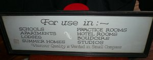 "Vintage Framed ""For Use In"" Sign From Business Yardlong"