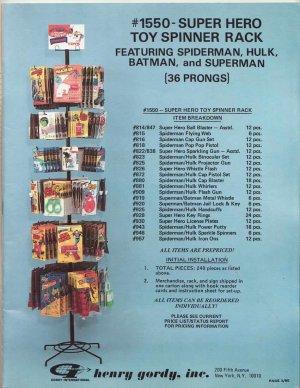 1980 Gordy Toys Catalog Spider-Man Hulk Gatchaman