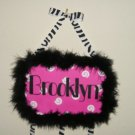 SASSY! Pink, black, and white hair bow holder