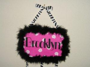 SASSY! Pink, black, and white hair bow holder