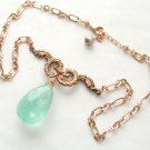 18k Rose Gold Vermeil French Acanthus & Fluorite Necklace