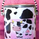 ALTERED PAINT CAN COW THEME               Moo Can #1