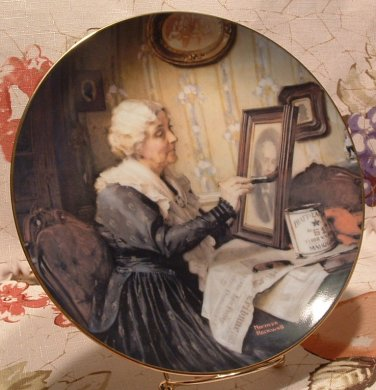 Grandma's Love / Edwin M. Knowles Collector Plate /  Norman Rockwell 1988