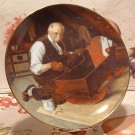 Grandpa's Gift / Edwin M. Knowles Collector Plate /  Norman Rockwell 1987