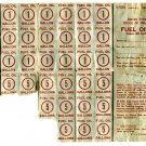 WWll Fuel Oil Ration Coupons Class 4A  Vintage 1945