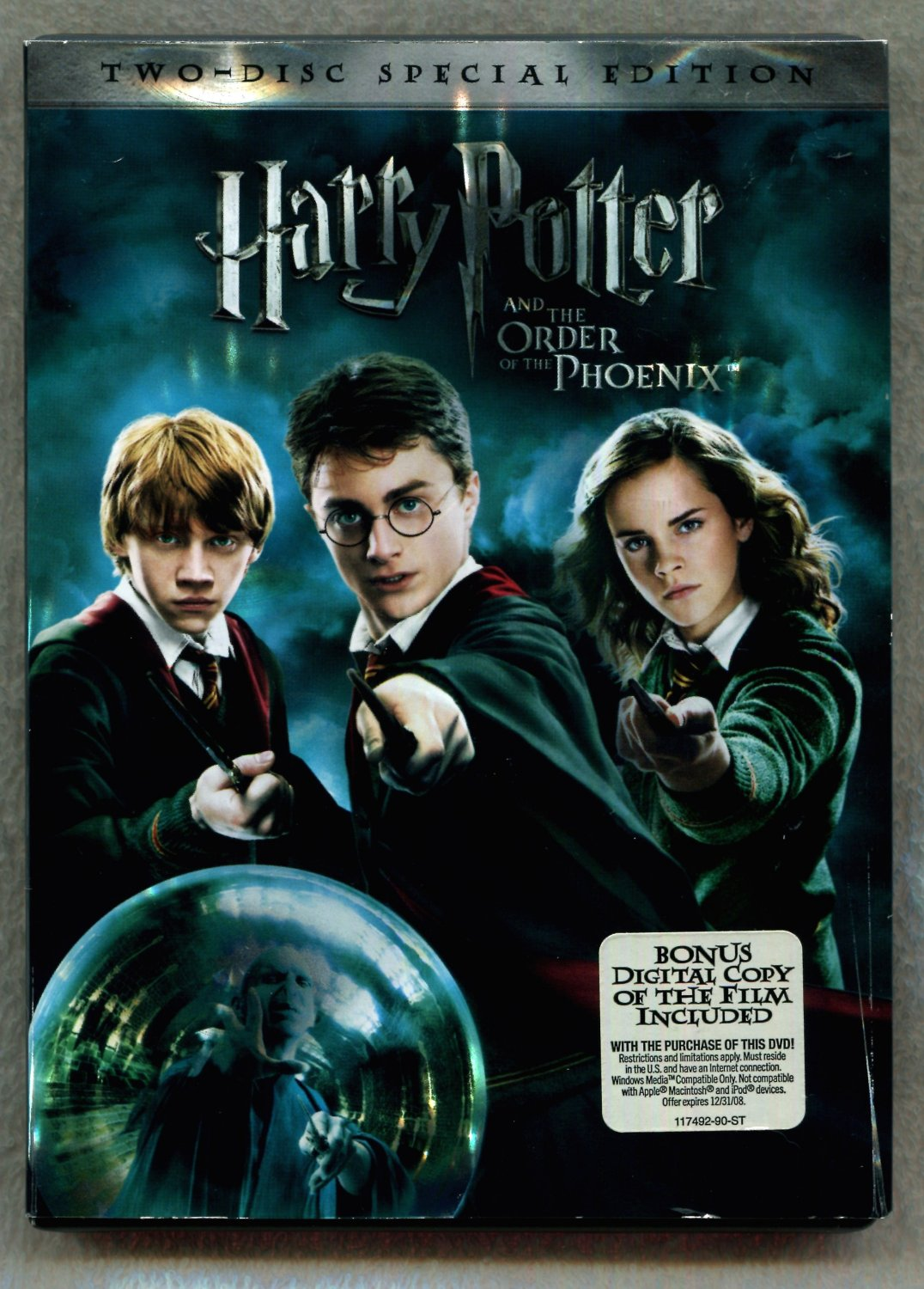 dvd harry potter and the order of the phoenix. Black Bedroom Furniture Sets. Home Design Ideas