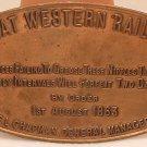 Railroad Sign Metal British Great Western Railway Vintage