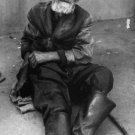 portrait of old beggar
