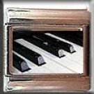 PIANO KEYS ITALIAN CHARM CHARMS