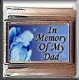 IN MEMORY OF DAD GUARDIAN ANGEL ITALIAN CHARM