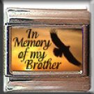 IN MEMORY OF BROTHER EAGLE SUNSET ITALIAN CHARM