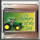 IN MEMORY OF SON TRACTOR ITALIAN CHARM CHARMS