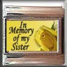 IN MEMORY OF SISTER YELLOW ROSE ITALIAN CHARM