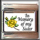 IN MEMORY OF SISTER YELLOW ROSE BUD ITALIAN CHARM