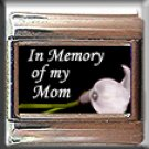 IN MEMORY OF MOM CALLA LILY ITALIAN CHARM CHARMS