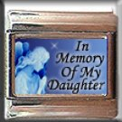 IN MEMORY OF DAUGHTER GUARDIAN ANGEL ITALIAN CHARM