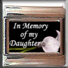IN MEMORY OF DAUGHTER CALLA LILY ITALIAN CHARM