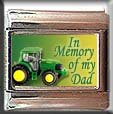 IN MEMORY OF DAD TRACTOR ITALIAN CHARM CHARMS