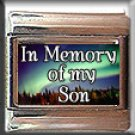 IN MEMORY OF SON AURORA LIGHTS ITALIAN CHARM