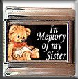 IN MEMORY OF SISTER TEDDY BEAR ITALIAN CHARM CHARMS