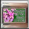IN MEMORY OF SISTER LILACS ITALIAN CHARM CHARMS