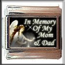 IN MEMORY OF MOM AND DAD ITALIAN CHARM CHARMS