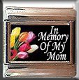 IN MEMORY OF MOM TULIPS ITALIAN CHARM CHARMS