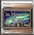 IN MEMORY OF MOM DAD AURORA LIGHTS ITALIAN CHARM