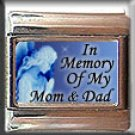 IN MEMORY OF MOM DAD GUARDIAN ANGEL ITALIAN CHARM