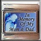 IN MEMORY OF MOM DAD GUARDIAN ANGEL ITALIAN CHARM