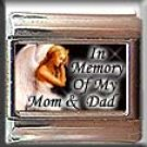 IN MEMORY OF MOM DAD ANGEL ITALIAN CHARM