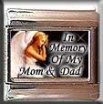 IN MEMORY OF MOM DAD ANGEL ITALIAN CHARM