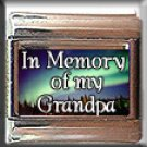 IN MEMORY OF GRANDPA AURORA LIGHTS ITALIAN CHARM