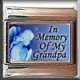 IN MEMORY OF GRANDPA GUARDIAN ANGEL ITALIAN CHARM