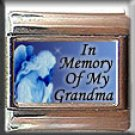 IN MEMORY OF GRANDMA GUARDIAN ANGEL ITALIAN CHARM