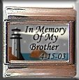 IN MEMORY OF BROTHER LIGHTHOUSE ITALIAN CHARM