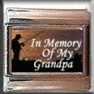 IN MEMORY OF GRANDPA FISHING ITALIAN CHARM