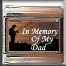IN MEMORY OF DAD FISHING ITALIAN CHARM