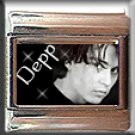 JOHNNY DEPP BW ITALIAN CHARM CHARMS