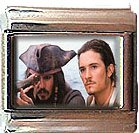 JOHNNY DEPP ORLANDO BLOOM PIRATES ITALIAN CHARM