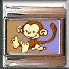 BROWN MONKEY CUTE ITALIAN PHOTO CHARM