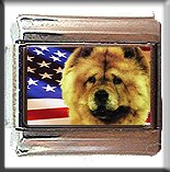 CHOW CHOW AND AM FLAG ITALIAN CHARM