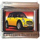 YELLOW MINI COOPER ITALIAN CHARM