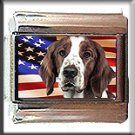 WELSH SPRINGER SPANIEL AND AM FLAG ITALIAN CHARM