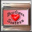 BROTHER SISTER HEART LOVE ITALIAN PHOTO CHARM