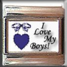 I LOVE MY BOYS ITALIAN CHARM CHARMS