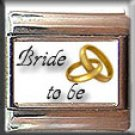 BRIDE TO BE GOLD RINGS ITALIAN CHARM CHARMS