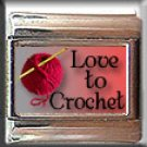 LOVE TO CROCHET ITALIAN CHARM CHARMS