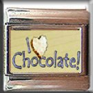 I LOVE CHOCOLATE ITALIAN CHARM CHARMS