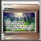 BELIEVE IN YOURSELF ITALIAN CHARM CHARMS